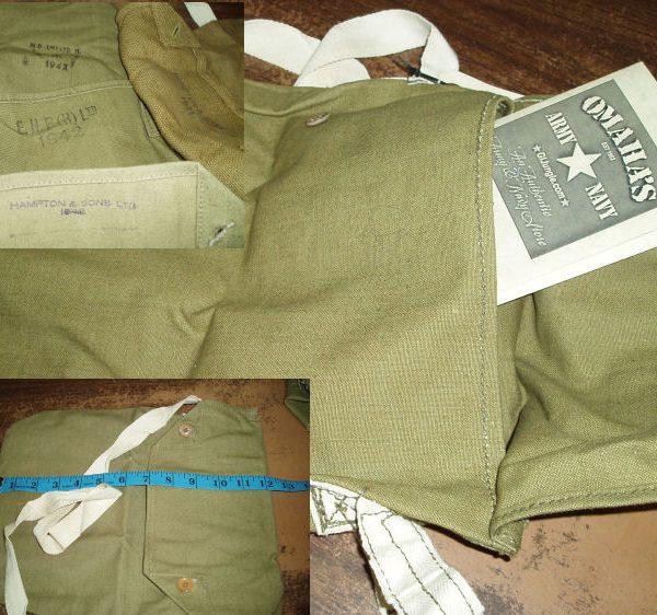 British Gas Mask Bag, WW2