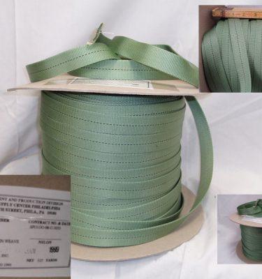 Tubular 1 Nylon Webbing Green 125 Yds Roll