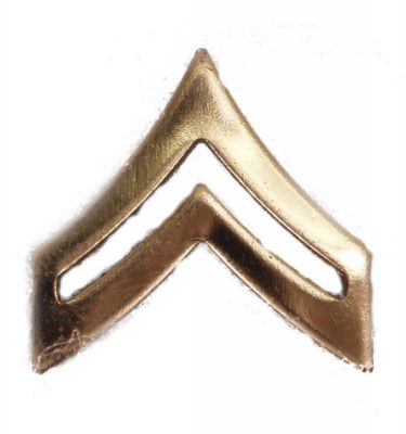 Army Pin-on Collar Rank, E-4, Corporal