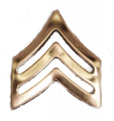 Army Pin-on Collar Rank, E-5, Sgt