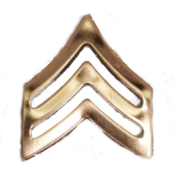 Army Pin-on Collar Rank, E-5, Sgt