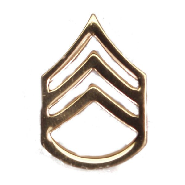 Army Pin-on Collar Rank, E-6, Staff Sgt