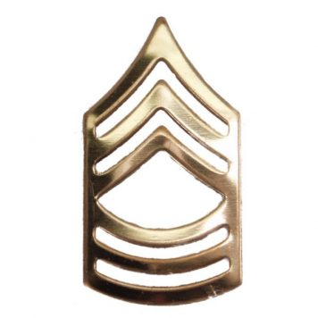 Army Pin-on Collar Rank, E-8, Master Sgt