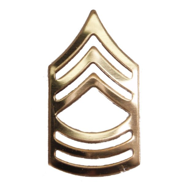 Army Pin-on Collar Rank, E-8, Master Sgt