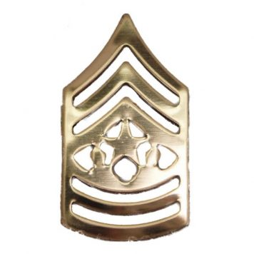 Army Pin-on Collar Rank, E-9, Command Sgt Major