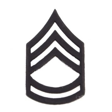 Army Pin-on Collar Rank, E-7, Sgt 1st Class, Blk