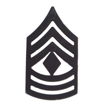 Army Pin-on Collar Rank, E-9, First Sgt, Blk