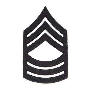 Army Pin-on Collar Rank, E-8, Master Sgt, Blk