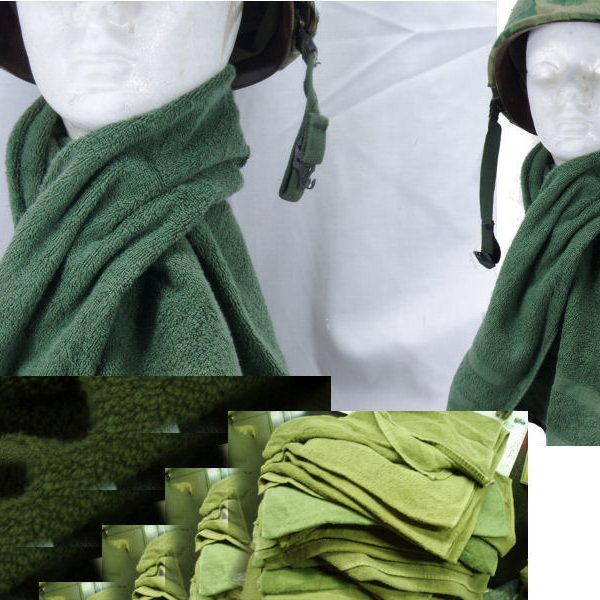 Military Cotton Towel, Olive Drab