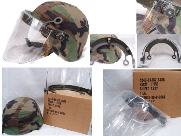 Kevlar Helmet Riot Shield Assembly