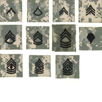 ACU Rank Velcro Enlisted, 1 Each