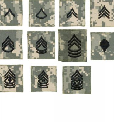 ACU Rank Velcro Enlisted, 1 Each