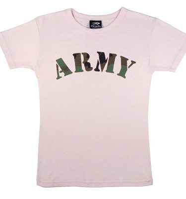 Women's Pink Army Shirt