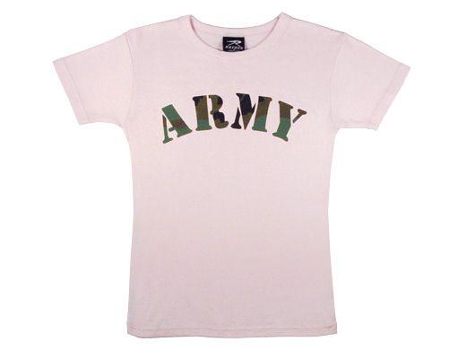 Women's Pink Army Shirt
