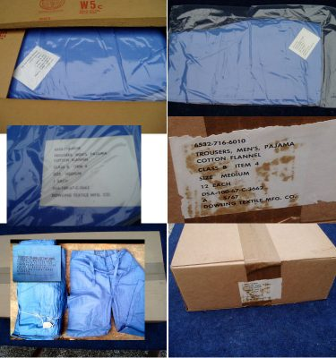 WW2 Korea PJ Bottoms 12 Pair In A Box