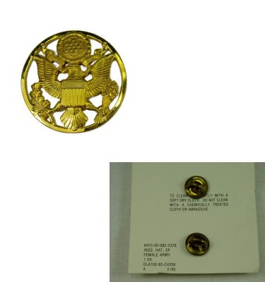 Cap Badge, Army, Female, Enlisted