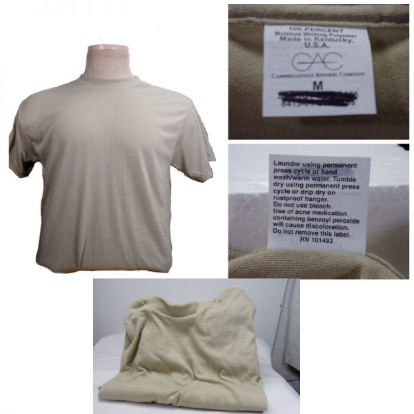 Military T-shirt Sand 3 Pk