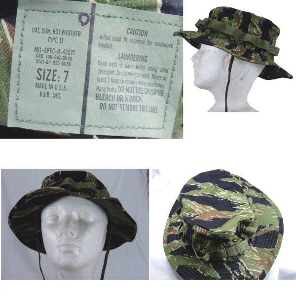Tiger Stripe Boonie Hat, V.n Style, R & B