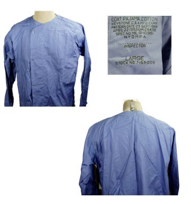 Pajama Top Post-War Blue Large