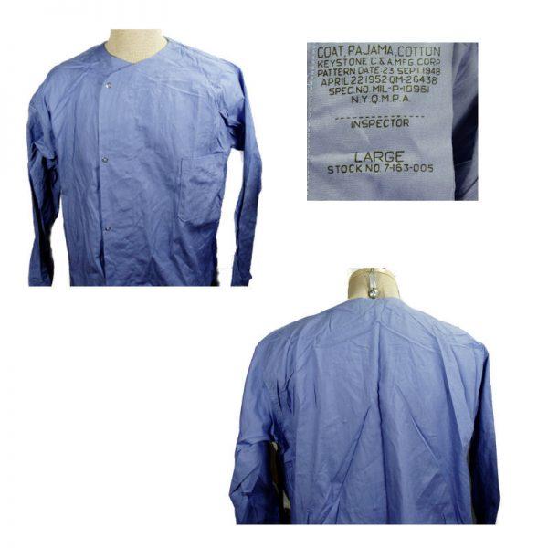 Pajama Top Post-War Blue Large