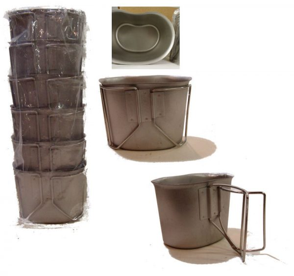 Canteen Cup With Wire Handle New