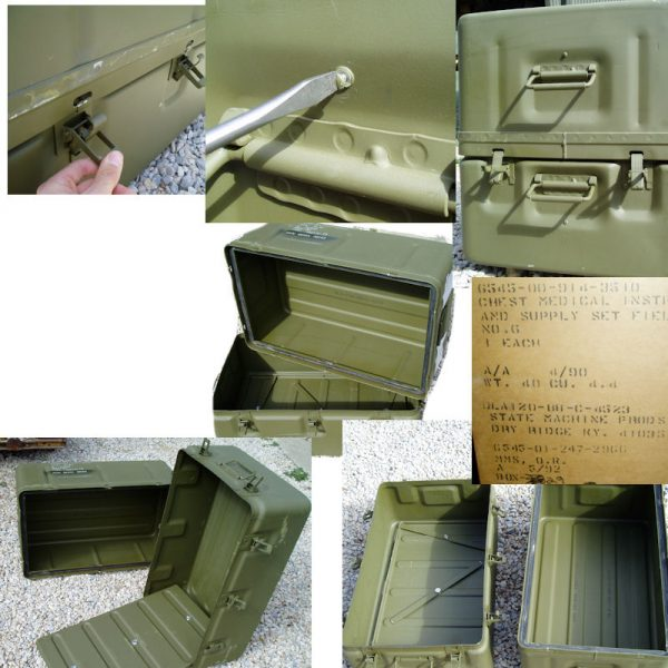 Military Survival Box, Medical Supply Chest