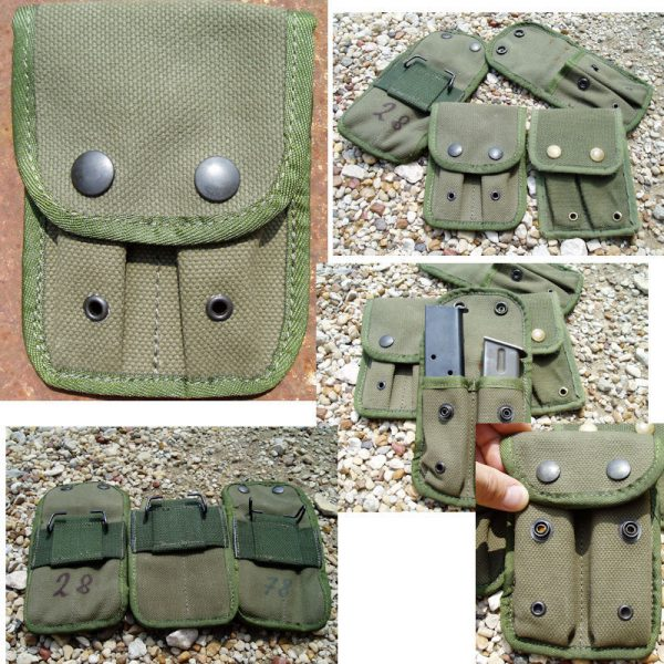 Belgian Canvas Double Mag Pouch