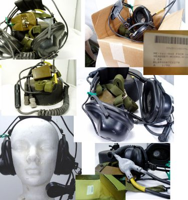 Military Headset, With Boom Mic, And Chest Switch