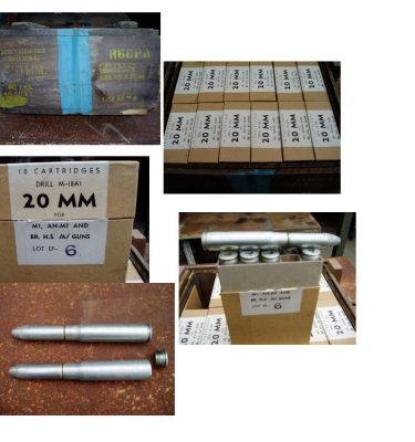 20mm Dummy Cartridge M-18a1