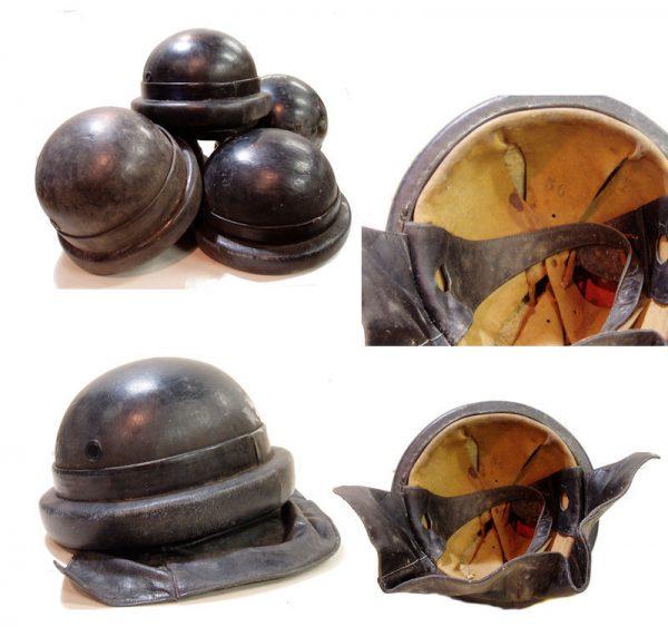 Italian Leather Tanker Helmet, Used And Abused
