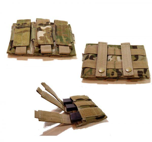 Multicam Triple Pistol Mag Pouch
