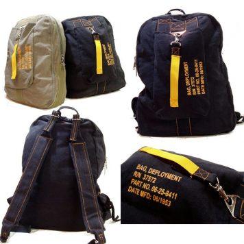 Vintage Flight Deployment Bag Black