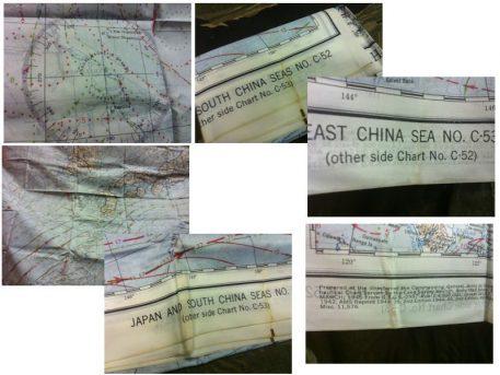 WW2 Silk Survival Map China Seas
