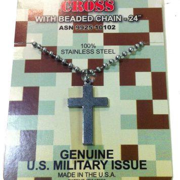 Cross W/ Beaded Chain