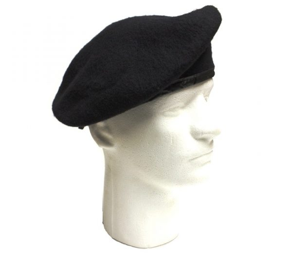 black army beret wool military surplus size 7 1/2