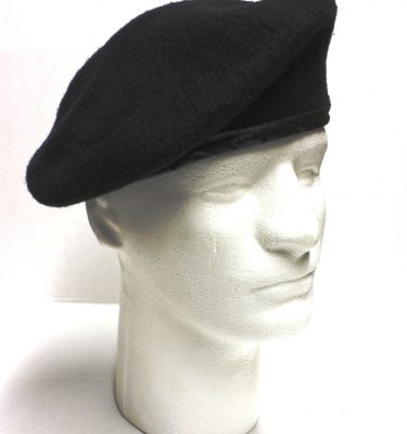 Black Army Beret, Wool