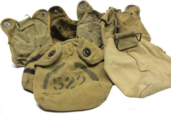 WW2 Usmc Canteen Cover, Lift-a-dot, No Cross