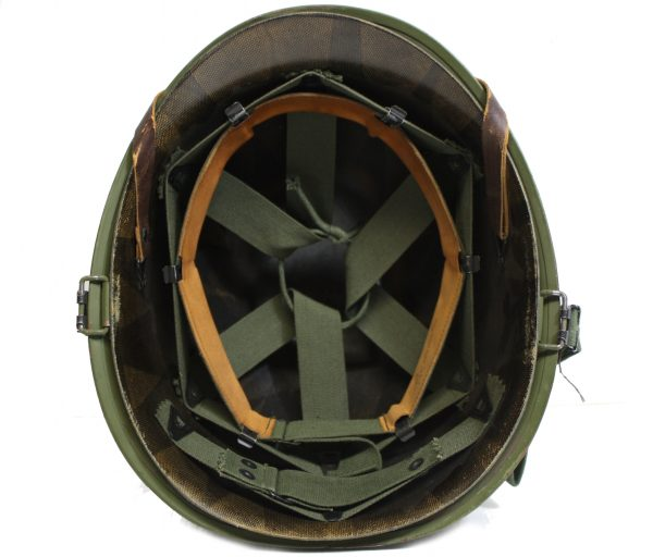 M-1 Helmet , Post WW2 with liner and leather chinstrap