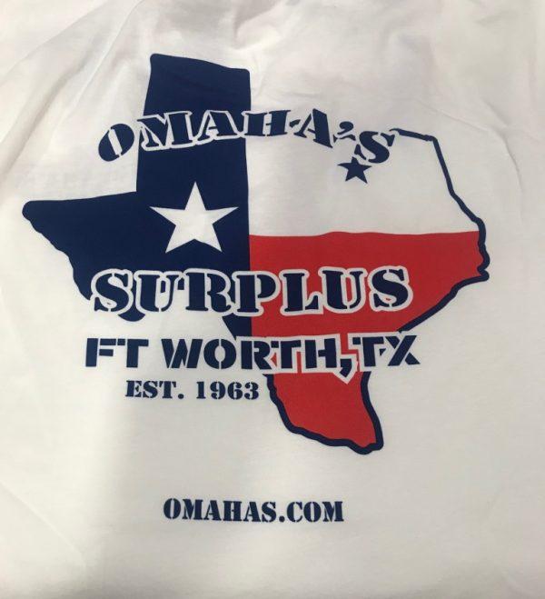 military surplus omahas texas t-shirt