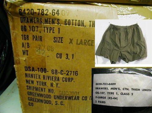 Boxer Shorts, Vietnam Issue, X-large 3pk