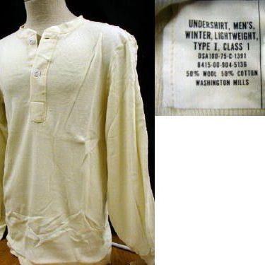 Long Underwear-top, Wool / Cotton-Xsmall