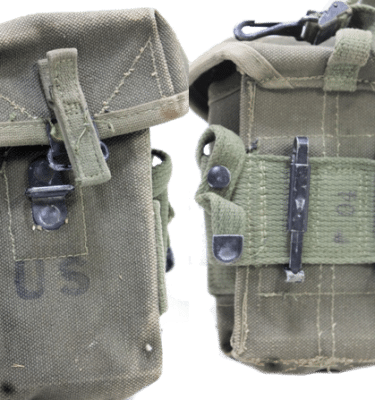 Vietnam M-16 Ammo Pouch, Canvas-Used Good