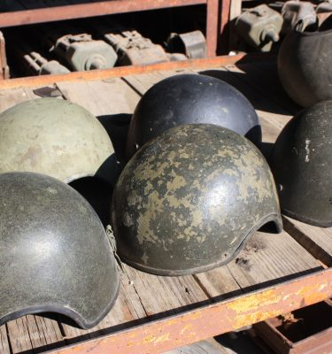 Tankers Helmet Shell, CVC, Used, Rough Fiberglass