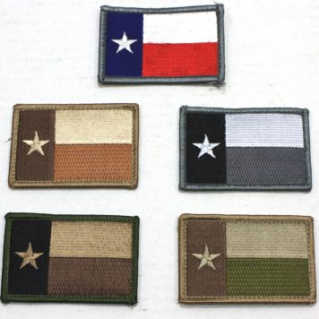Texas Flag Patches 2x3