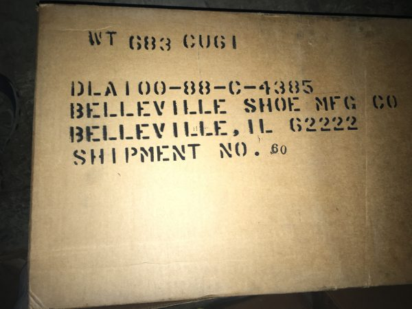 jungle boots label on box