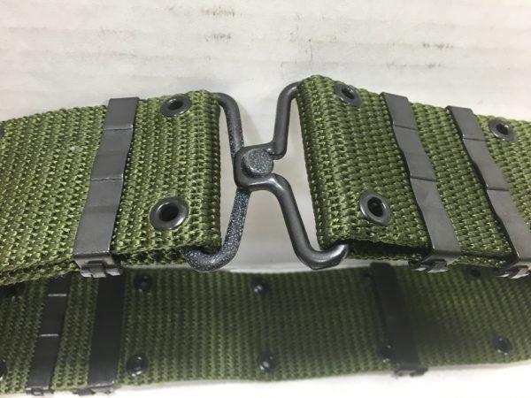 military pistol belt with metal buckle