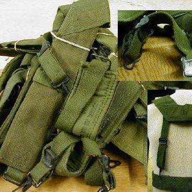 Vietnam Era Canvas Suspenders