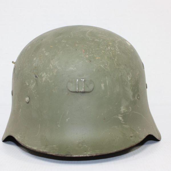 Spanish German Style Helmet, Cotton/Leather