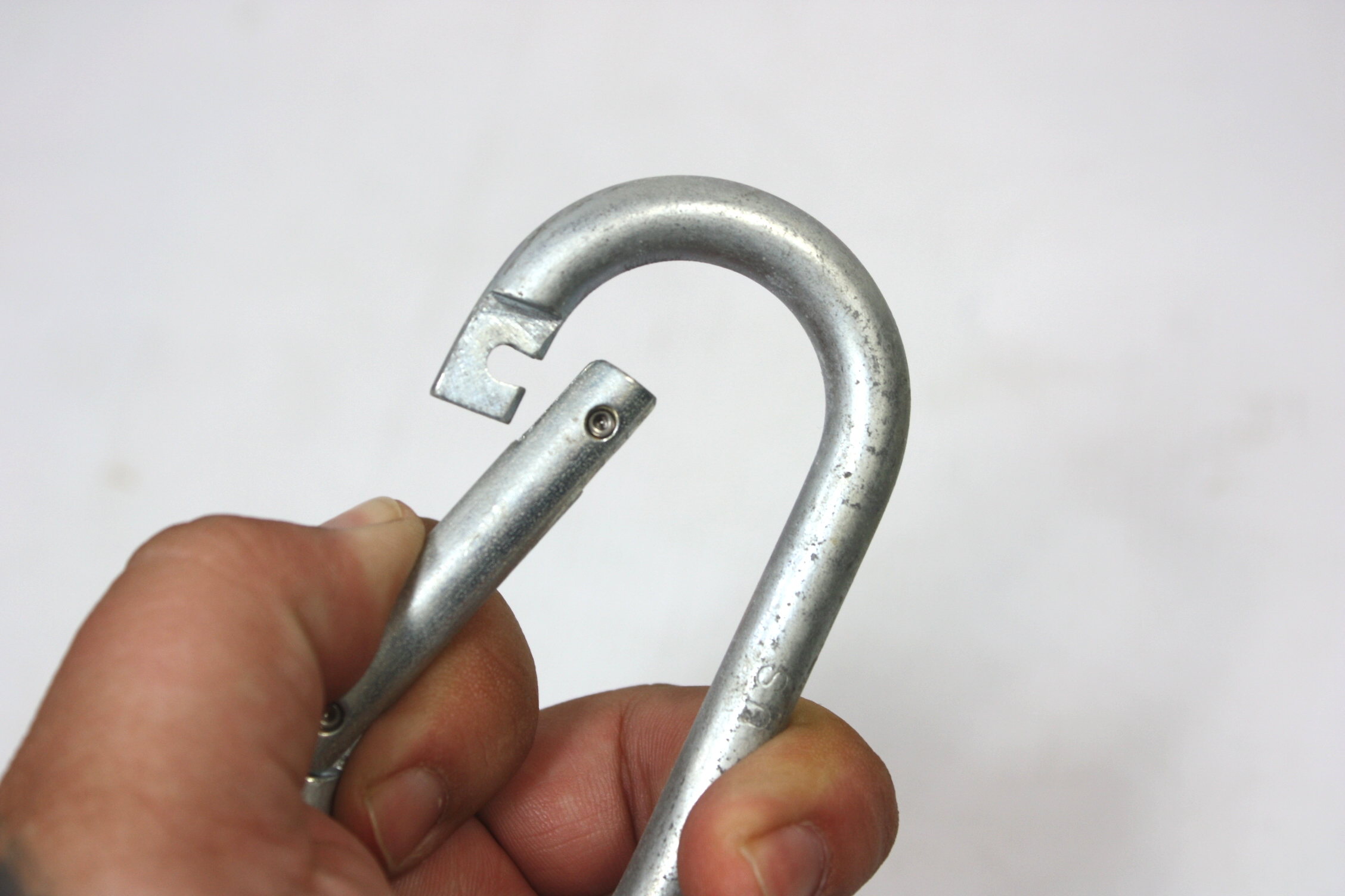 military carabiner steel rappelling mountain piton us issue