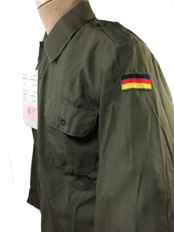 German Fatigue Shirt w/ Flag, used